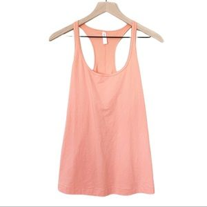 Gap Fit Breathe Racerback Tank Top Peachy Keen L